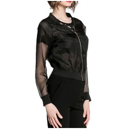 Light Mesh Jacket With Zipper