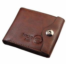 Genuine Leather Mens Black/Brown Wallet