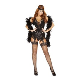 2 Pc Sequin Flapper Showgirl Burlesque Bodysuit Halloween Costume $9 Ship
