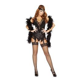 2 Pc Sequin Flapper Showgirl Burlesque Bodysuit Halloween Costume $9 Ship