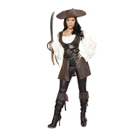 6 Piece Ladies Swashbuckler Pirate Beauty Halloween Costume $9 To Ship