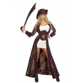 6 Piece Ladies Sexy Pirate Diva Halloween Costume $9 To Ship