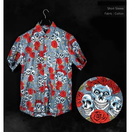 Darksoul Plus Size Men's Shirt Skull Rock Short Sleeved Big T Xl 8 Xl