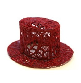 Handmade Fsl Lace Steam Punk Victorian Dapper Mini Top Hat Hair Fascinator