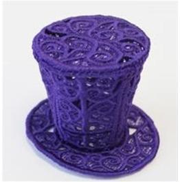 Handmade Fsl Lace Steam Punk Victorian Mini Topper Hat Hair Fascinator