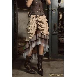 Brown Steampunk Irregular Long Skirt