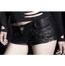 Women's Gothic Snakeskin Tight Leather Punk Rave Shorts