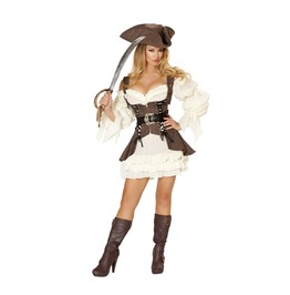 4 Piece Ladies Sexy Pirate Wench 1800s Halloween Costume $9 To Ship