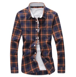 Mens Squared Multi Colored Casual Shirts