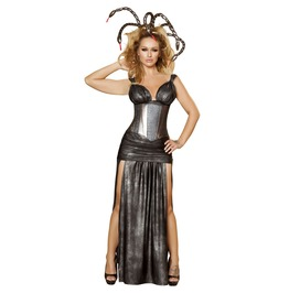 4 Pc Medusa Greek Monster Goddess Snake Hair Fetish Halloween Costume