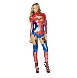 1 Pc Spider Woman Web Bodysuit Sexy Fetish Halloween Costume