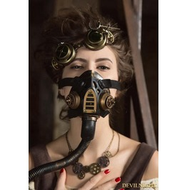 Black And Bronze Steampunk Respirator Mask