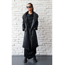 Extravagant Black Coat/Long Loose Jacket/Oversize Black Cardigan/Black Top