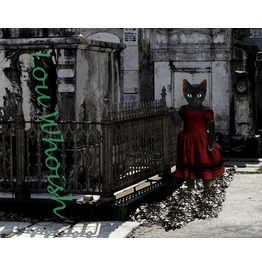 Black Cat Graveyard Mixed Media