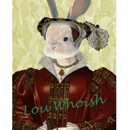 Tudor Rabbit Catherine Parr Mixed Media