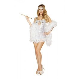 2 Pc Sexy 1920s Flapper Showgirl Cosplay Fetish Halloween Costume