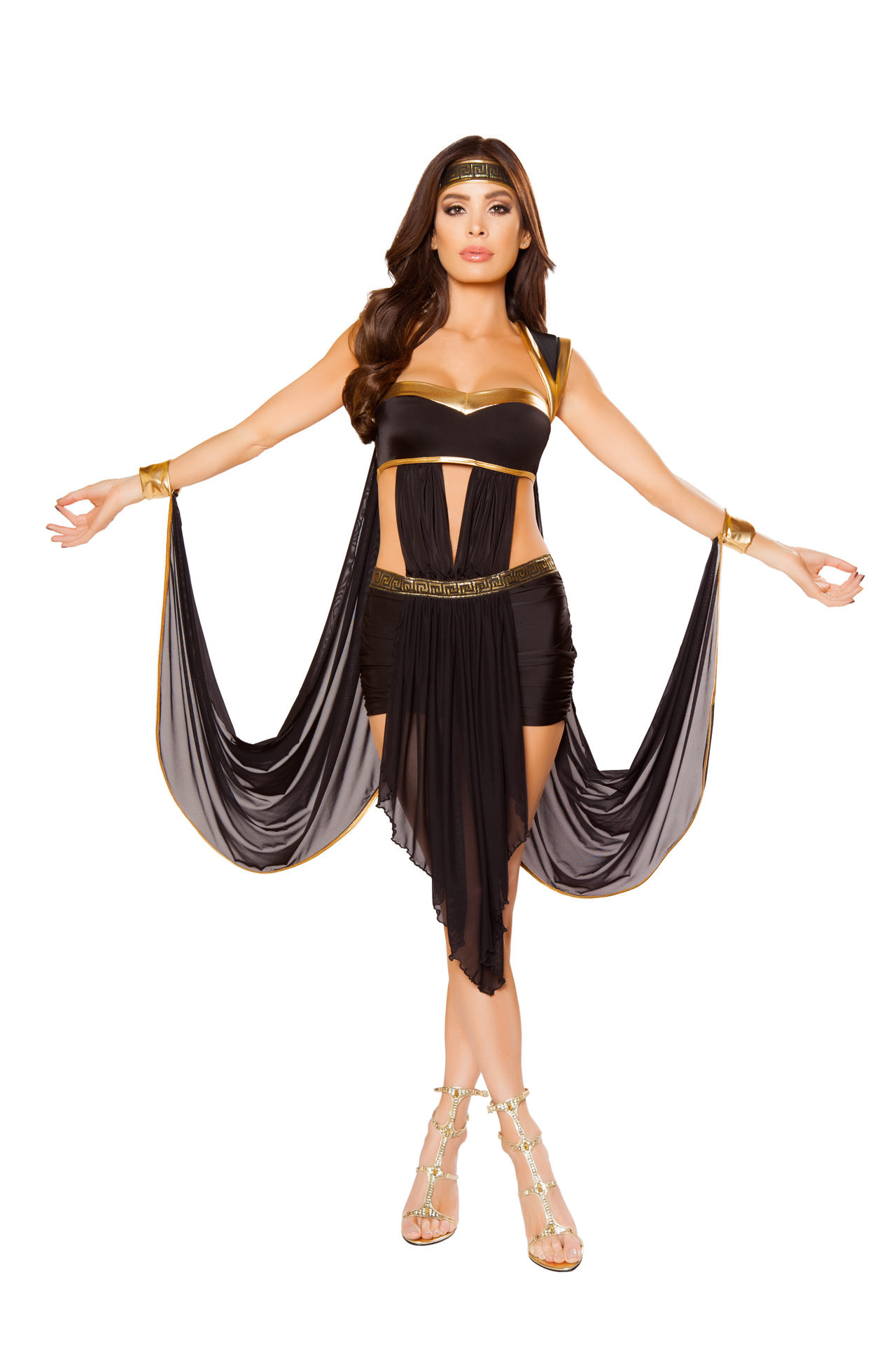 2 pc black or white greek goddess cosplay fetish halloween costume