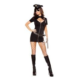 6 Pc Hot Lady Cop Policewoman Fetish Mini Dress Halloween Costume