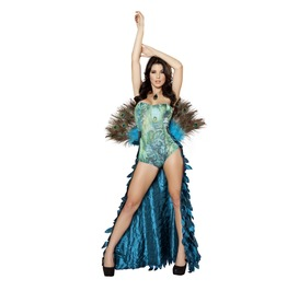 2 Pc Pretty Sexy Peacock Fetish Catsuit Halloween Costume $9 To Ship