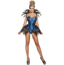 2 piece blue peacock diva fetish halloween costume 9 to ship - Fetish Halloween