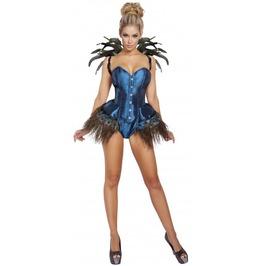 2 Piece Blue Peacock Diva Fetish Halloween Costume $9 To Ship
