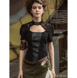 Vintage Black Steampunk Fashion Wasitband