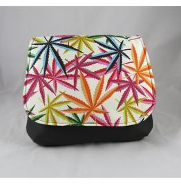 Cannabis Psychedelic Herb Pot Leaf Kelsi Ii Cross Body Purse Mini Messenger