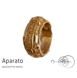 8's Gold Plated Steampunk Ring