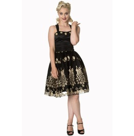 Banned Apparel Moonlight Escape Dress Black, Burgundy, And Gold