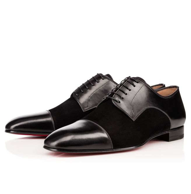 Handmade Men Black Color Suede And Leather Formal Rebelsmarket