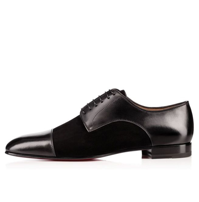 1594bd6f8 Handmade Men Black Color Suede And Leather Formal Shoes