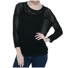 Mesh Sweater With Skull Back