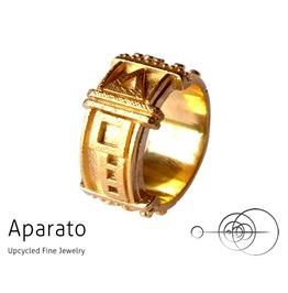 Arrow Gold Steampunk Ring