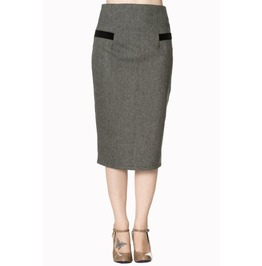Banned Apparel Swept Off Her Feet Pencil Skirt Black And Brown