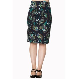 Banned Apparel Proud Peacock Pencil Skirt