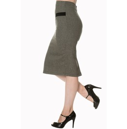 Banned Apparel Lady Luck Pencil Skirt Black And Brown