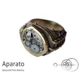 Preda Brass Steampunk Ring Upcycled Jewelry With Timepiece
