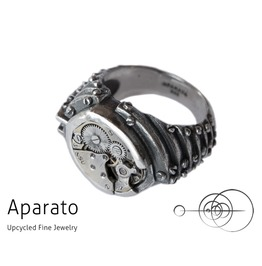 Preda Silver Steampunk Ring Upcycled Jewelry With Timepiece
