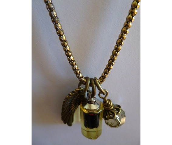 Antique Brass Angelwing, Blood Vial, Crystal Necklace_Necklaces_2.jpg