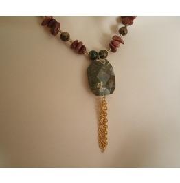 Rhyolite Necklace, Boho Bohemian Hippie Gypsy Hipster New Age