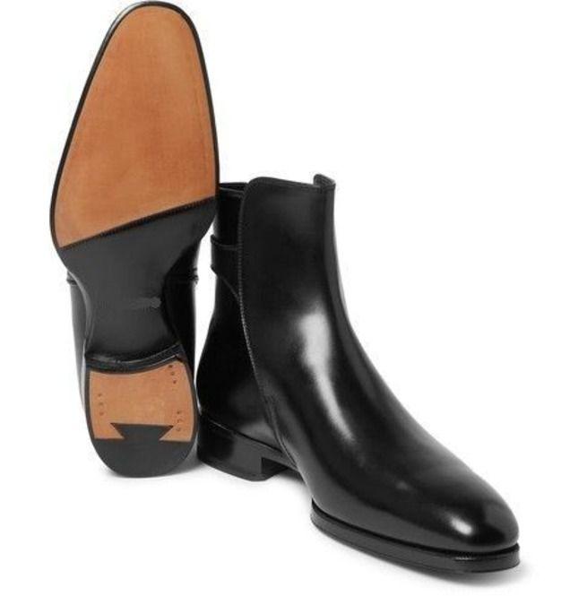 540ad1722f New Handmade Men Black Ankle High Boot, Men Leather | RebelsMarket