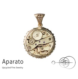 Steampunk Classic 24 K Gold Plated Pendant