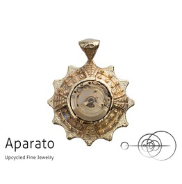 Steampunk Dial 24 K Gold Plated Pendant