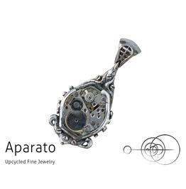 Steampunk Drop Silver Pendant