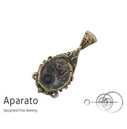 Steampunk Drop Brass Pendant