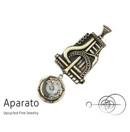 Steampunk Lapis Brass Pendant