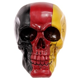 Egg N Chips London Gruesome German Flag Skull Ornament
