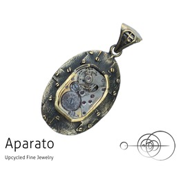 Steampunk Oval Plate Brass Pendant