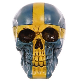 Egg N Chips London Gruesome Swedish Flag Skull Ornament