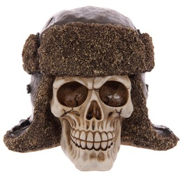 Egg N Chips London Gruesome Skull Aviator Hat Ornament